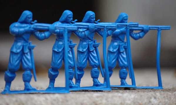 JECSAN Musketeers 60mm, 4 Firing pose - 4 Toy Soldiers