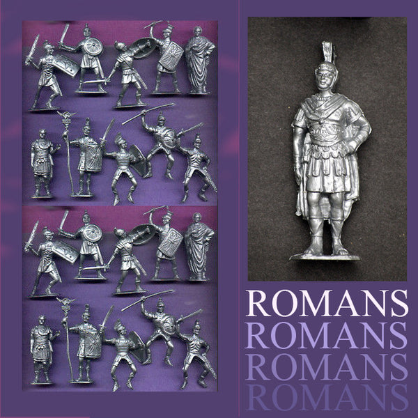 Jecsan Ancient Romans in 60mm - 10 Roman Poses in a set of 21 with General