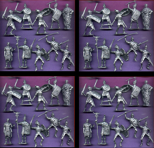 Jecsan Ancient Romans in 60mm - 10 Roman Poses in a set of 40 Toy Soldiers