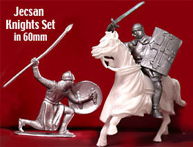 Jecsan 19 piece Medieval Knights Plastic Toy Soldiers and Horses Set!