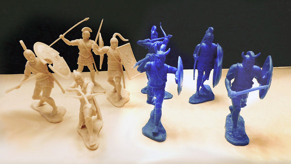 LOD Toy Soldiers - The War at Troy - 16 Highly Detailed Greek & Trojan Warriors in 8 Great Poses in 60mm