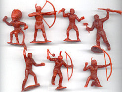 MARX 60mm INDIAN WARRIORS 21 Warriors in 7 poses Reissued MARX TOY SOLDIERS