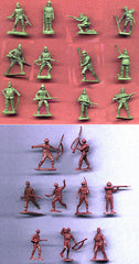 MARX Iwo Jima Japanese & WWII British Combo Set in 30mm - 35 Plastic Toy Soldiers