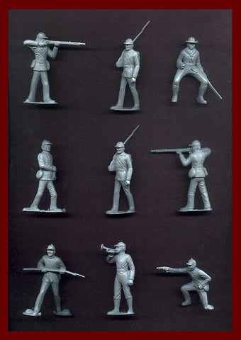 MARX Toy Soldiers - Reissued Gray Civil War Army Figures