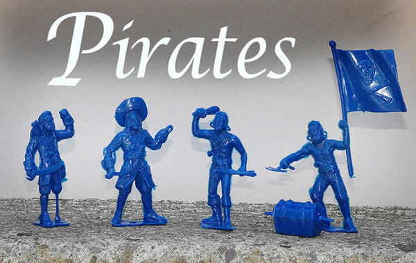 MPC PIRATE Reissues - Sixteen 54mm figures with accessories