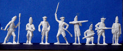 MARX Toy Soldiers Revolutionary War British in 60mm - Reissued White Color Plastic Toy Soldiers - Mint
