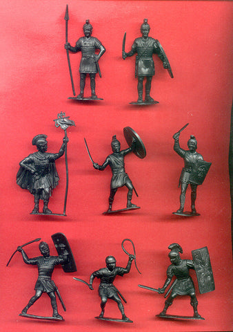 Roman Figures in Black Reissued 60MM MARX TOY SOLDIERS