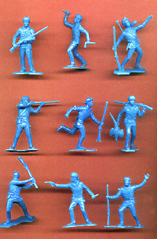 BOONSBORO PIONEERS (BLUE)  9 dramatic action poses! 22 figures PER SET
