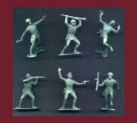MARX Toy Soldiers - 22 WWII Russian Soldiers - Reissued in a Custom Military Green