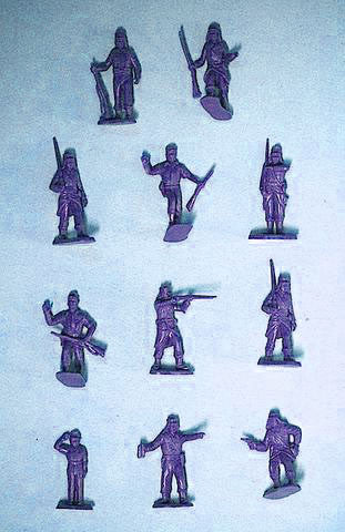 MARX French Foreign Legion - Reissued in 30mm in Military Blue -  25 Plastic Toy Soldiers