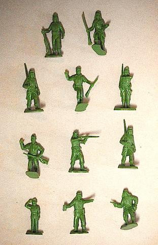 MARX French Foreign Legion - Reissued in 30mm in Military Green -  25 Plastic Toy Soldiers