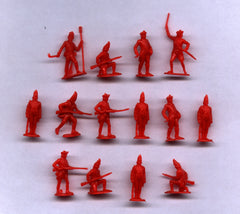 MARX Revolutionary War British - Reissued in 30mm in Red -  15 Plastic Toy Soldiers
