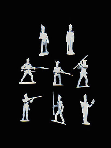 MARX Alamo Mexicans Reissued in 30mm - 30 Piece Plastic Figure Set in White