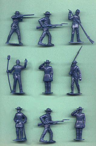 MARX Toy Soldiers - Reissued Blue Civil War Confederate Army Figures