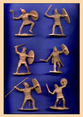 Reamsa Gauls 6 pc Toy Soldier Set 60mm in a Limited Run of a LIGHT TAN Color