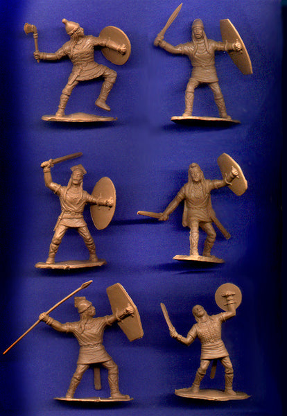 Reamsa Gauls 12 pc Toy Soldier Set 60mm TAN Color