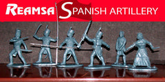 REAMSA 1/32 Spanish Napoleonic Soldiers, 26 Plastic Toy Soldiers & Field Cannon