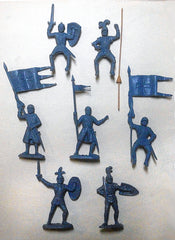 REAMSA CRUSADER KNIGHTS in a Custom Gray/Blue Color Set 3 - 7 in 7 great poses