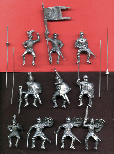 Reamsa 60mm Mounted Knights of Richard & Arthur - 10 Toy Soldiers (9 poses)