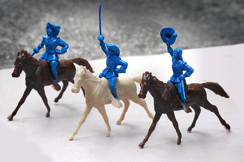 REAMSA 1/32 Musketeers on MARX Cavalry Horses, 6 pc set of  Plastic Toy Soldiers & Horses