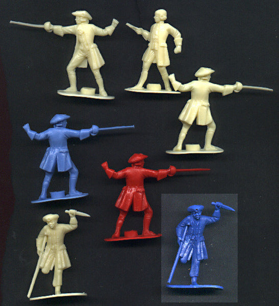 REAMSA PIRATES 1600 TO 1700s Era, Plastic Toy Soldiers Set! 3 poses - 10 figures per set!