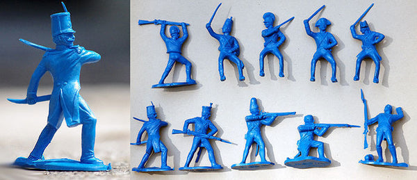 REAMSA Spanish Napoleonics 10 POSES, IN MARX BLUE