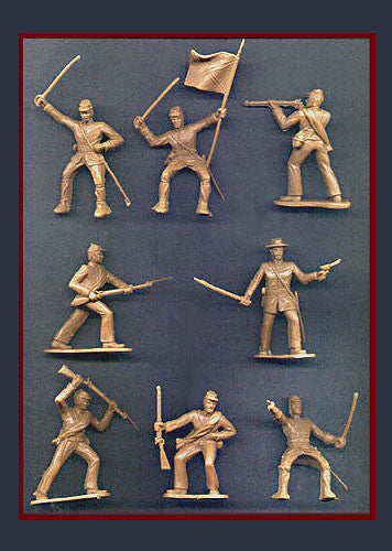 Reamsa 60mm CONFEDERATE CIVIL WAR SOLDIERS IN TAN (Limited Production) - 8 Soldiers in 8 Great Poses!