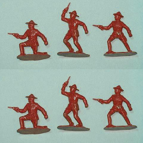 Reamsa Canadian Mounted Police, 6 Toy Soldiers in Red Color Plastic