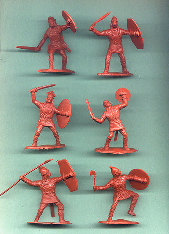 Reamsa Gauls 12 piece Toy Soldier Set 60mm Rust Color