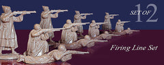 REAMSA Arab Warriors in Firing Poses - 12 Plastic Toy Soldiers in Tan Color