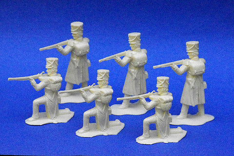 REAMSA 1/32 French Napoleonic Infantry Firing Line - Cream Color 6 Piece Set
