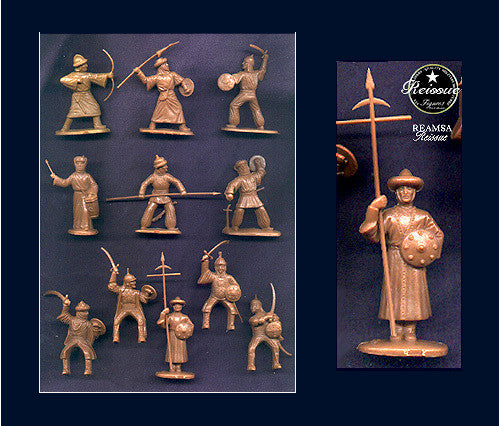 REAMSA Moorish Knights Set - 12 Figures in 11 Great Toy Soldier Poses!