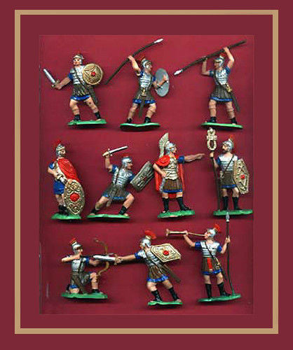 Reamsa Roman Infantry, 15 Toy Soldiers, Factory Painted