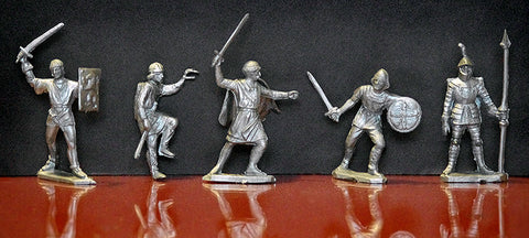 REAMSA REISSUE CRUSADER 60MM SIEGE KNIGHTS 10 IN 5 GREAT POSES!