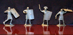 TSSD ROMANS AND BARBARIANS - 16 figures in 8 poses in this Plastic Toy Soldier set