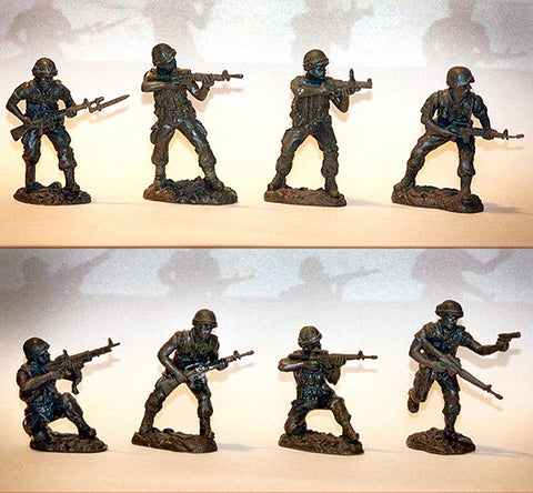 TSSD U.S. MARINES - VIETNAM - 16 figures in 8 poses plus 6 weapons in this battle action set!