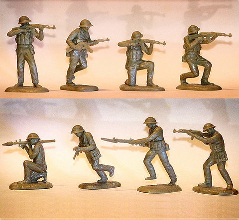 TSSD NVA SOLDIERS - VIETNAM - 16 figures in 8 poses plus 6 weapons in this battle action set!