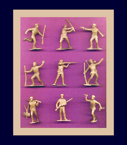 BOONSBORO PIONEERS (TAN)  9 dramatic action poses! 22 figures PER SET