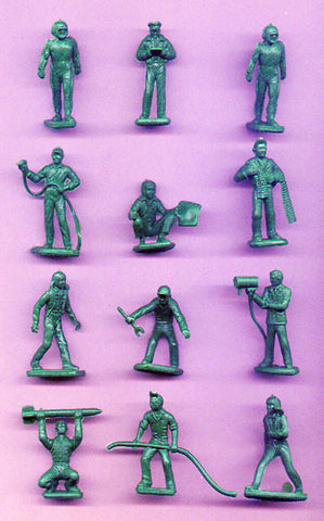 MARX Toy Soldiers 12 Air Force Toy Soldiers - Reissued Green Plastic Toy Soldiers - New