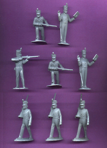 MARX Toy Soldiers 8 American Soldiers of 1840 Reissued