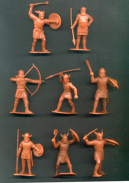 Viking Figures in Rust Reissued 60MM MARX TOY SOLDIERS