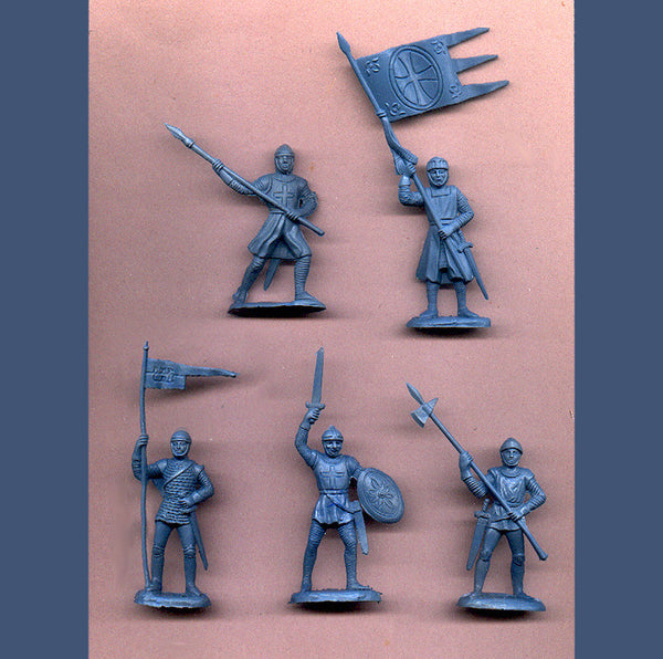 REAMSA CRUSADER KNIGHTS in a Custom Gray/Blue Color - 5 in 5 great poses
