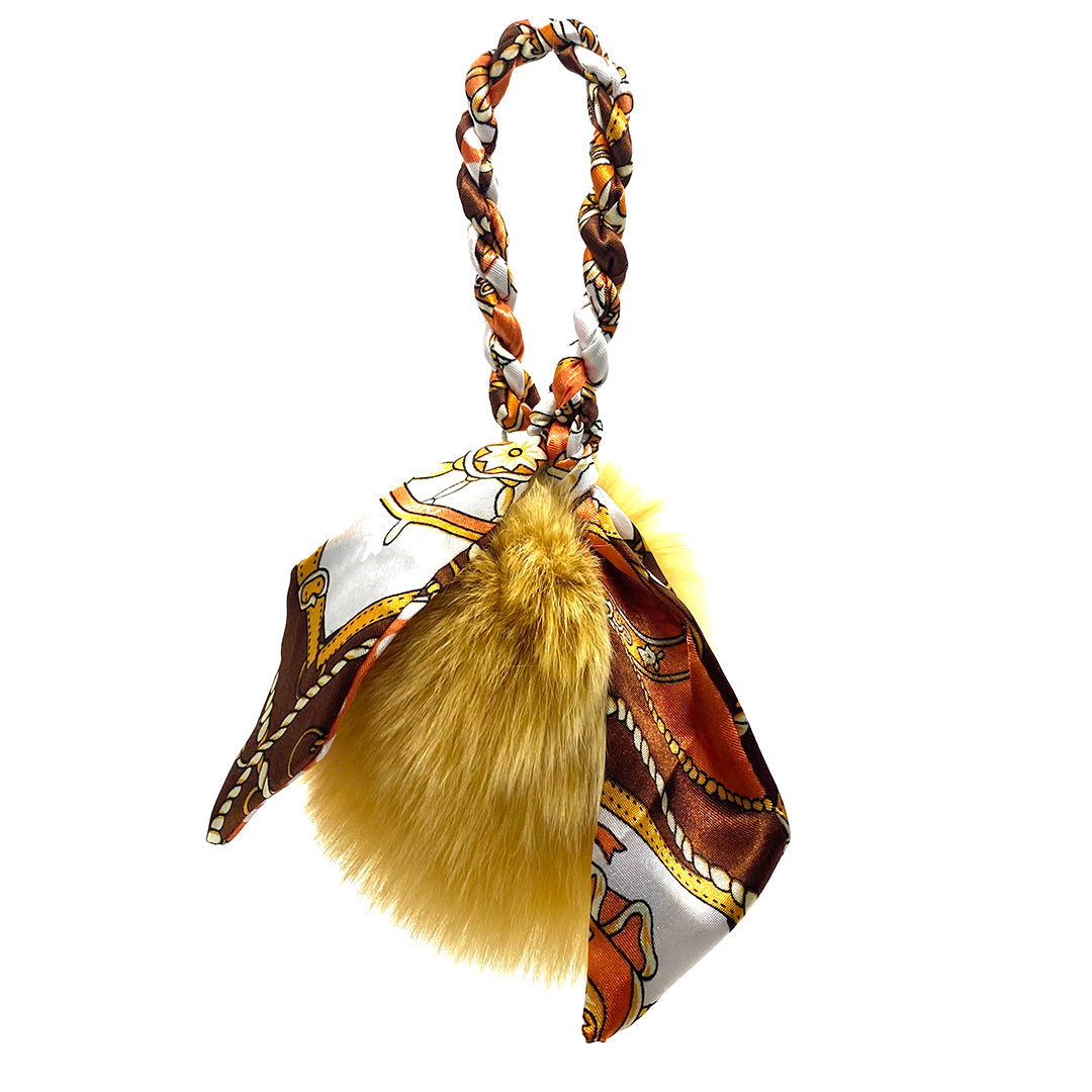 Charm Fox Large Ribbon Brown