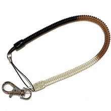 "Load image into Gallery viewer, Bungee Key Chain Medium 12"" Black/Brown/White"