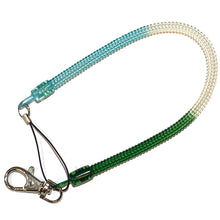 "Load image into Gallery viewer, Bungee Key Chain Medium 12"" Green/White/Blue"