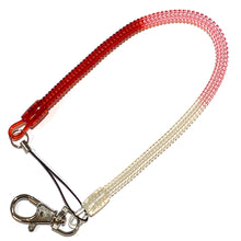 "Load image into Gallery viewer, Bungee Key Chain Medium 12"" Red/Pink/White"