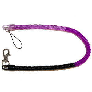 "Bungee Key Chain Large 12"" Black/Purple/Pink"