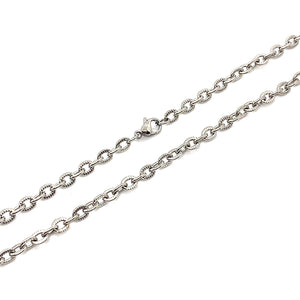 Chain Stainless Steel Dia-Cut Rolo 4mm