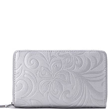 Load image into Gallery viewer, Wallet Chloe Hibiscus Embossed Silver