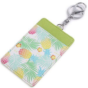Card Case April Spring Pineapple Green